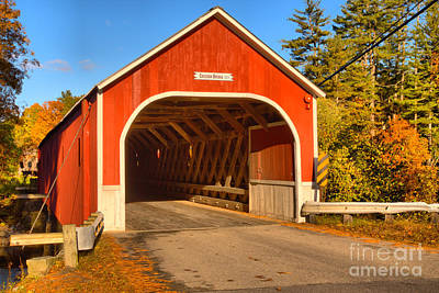 Photograph - Autumn At The Cresson Covered Bridge by Adam Jewell