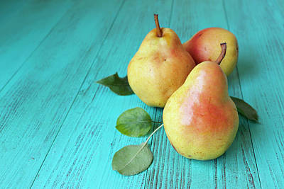 Photograph - Autumn Background With Pears by Creativeye99
