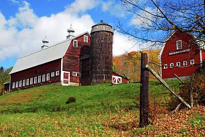 Fall Animals - Autumn Barn by James Kirkikis