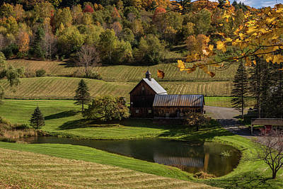 Photograph - Autumn Barn Vermont 2018 by Terry DeLuco