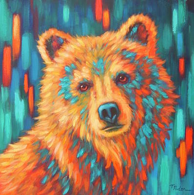 Wall Art - Painting - Autumn Bear by Theresa Paden
