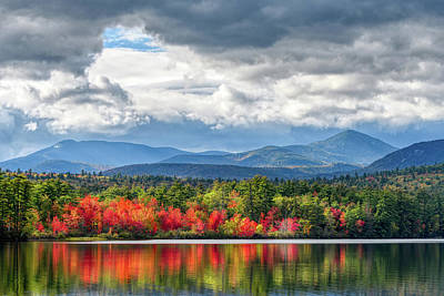 Photograph - Autumn Blaze, Chocorua Lake Nh by Michael Hubley