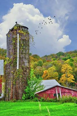 Art Print featuring the photograph Autumn Bliss On The Farm - Finger Lakes, New York by Lynn Bauer