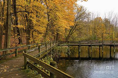 Impressionist Landscapes - Autumn Boardwalk Splendor by Rachel Cohen