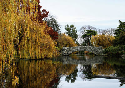 Photograph - Autumn Bridge Reflection by Perggals - Stacey Turner