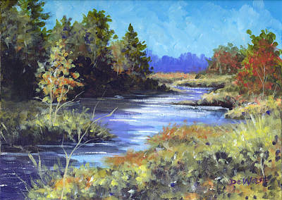 Painting - Autumn Brook Skech by Richard De Wolfe