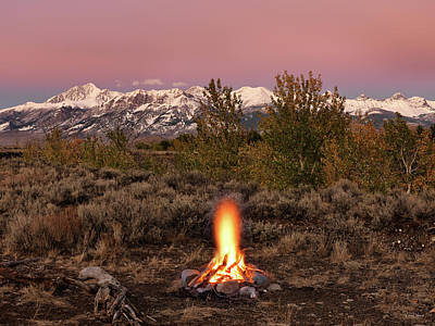 Photograph - Autumn Camp Fire by Leland D Howard