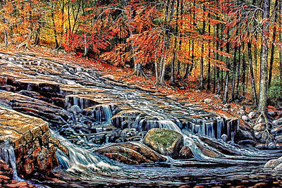 Painting - Autumn Cascade by Frank Wilson
