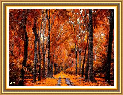 Music Figurative Potraits - Autumn Ceders At Hillviewhurst L A S With  Printed Frame. by Gert J Rheeders