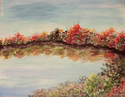 Painting - Autumn Clear Day Reflection by Lisa Bunsey