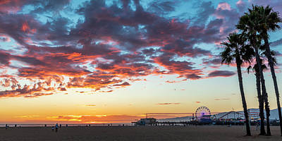 Photograph - Autumn Clouds At The Beach by Gene Parks