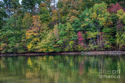 Photograph - Autumn Color At Lake Norman State Park by Amy Dundon