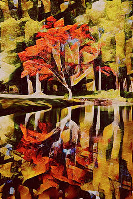 Photograph - Autumn Colors Abstract by Debra and Dave Vanderlaan