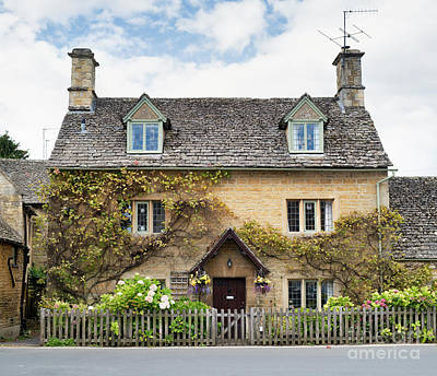 Photograph - Autumn Cottage Bourton On The Water by Tim Gainey