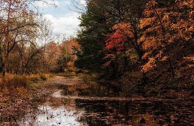 Photograph - Autumn Creek by Linda Shannon Morgan