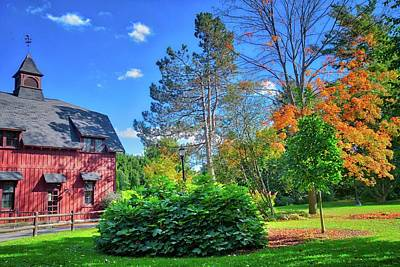 Art Print featuring the photograph Autumn Days On Campus At Cornell University - Ithaca, New York by Lynn Bauer