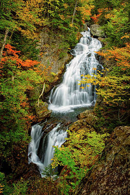 Photograph - Autumn Falls, Crystal Cascade by Jeff Sinon
