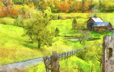 Painting - Autumn Farm In Vermont by Dan Sproul