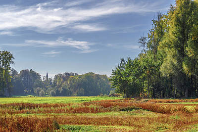 Photograph - Autumn Field by Wim Lanclus