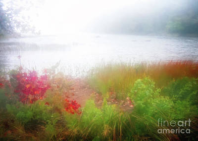 Photograph - Autumn Fog On Eagle Lake by Anita Pollak