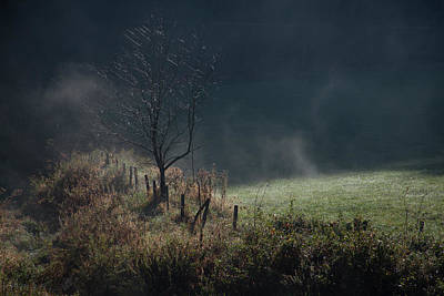 Photograph - Autumn Fog Smoky Mountains by David Chasey