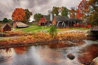 Photograph - Autumn Foliage On The Saugus River by Jeff Folger