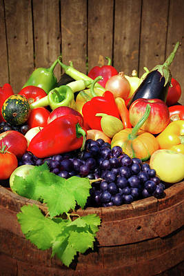 Photograph - Autumn Fruit And Vegetables by Jasmina007