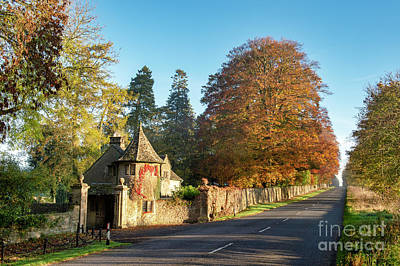 Photograph - Autumn Gate House by Tim Gainey