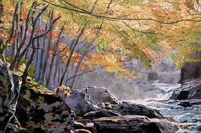 Painting - Autumn Glen by David Lloyd Glover