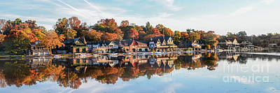 Photograph - Autumn Houses On The Water by Stacey Granger