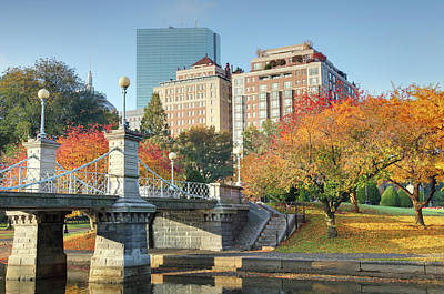Cityscapes Photograph - Autumn In Boston by Denistangneyjr