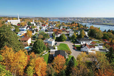 Photograph - Autumn In Chicoutimi City by Buzbuzzer
