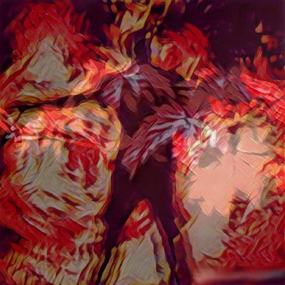 Digital Art - Autumn In Flames by Kae Art