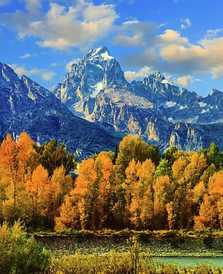 Autumn In Grand Teton Natoinal Park Art Print by Ron thomas