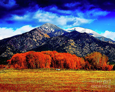 Digital Art - Autumn In Taos New Mexico by Charles Muhle