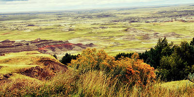 Photograph - Autumn In The Badlands South Dakota Usa by Gerlinde Keating - Galleria GK Keating Associates Inc