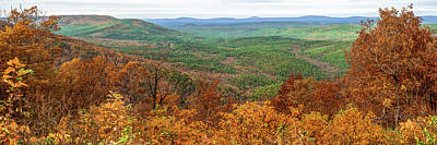 Photograph - Autumn In The Ouachita Mountains - Talimena Scenic Byway Drive Panorama by Gregory Ballos