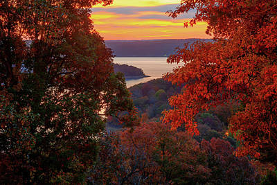 Photograph - Autumn In The Ozarks - Beaver Lake - Northwest Arkansas by Gregory Ballos