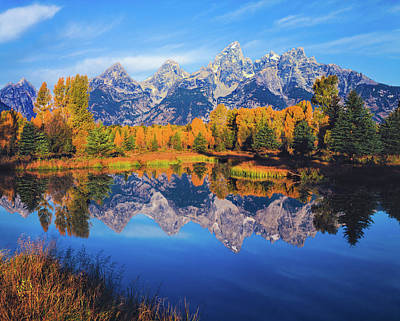Autumn In The Snake River Valley Grand Art Print by Ron thomas