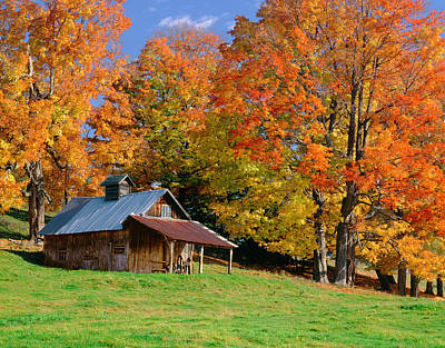 Vermont Photograph - Autumn In Vermont by Ron thomas