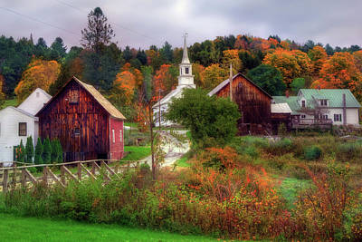 Photograph - Autumn In Waits River Vermont by Joann Vitali