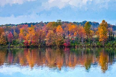 Photograph - Autumn Lake  by Alexander Fedin