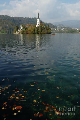 Photograph - Autumn - Lake Bled by Phil Banks