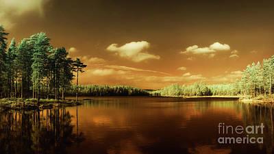 Erik Brede Rights Managed Images - Autumn Lake Royalty-Free Image by Erik Brede