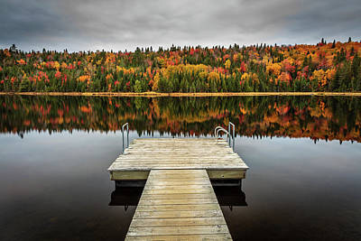Photograph - Autumn Lake Mood by Pierre Leclerc Photography