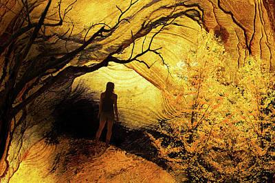 Digital Art - Autumn Landscape 1b by Lisa Yount