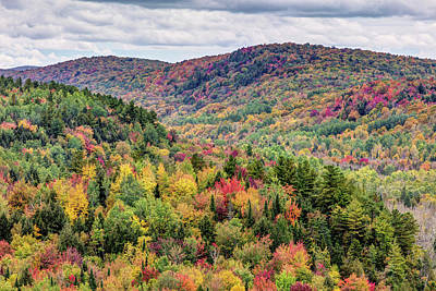 Photograph - Autumn Landscape Of The Eastern Townships by Pierre Leclerc Photography