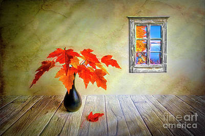 Digital Art Rights Managed Images - Autumn leaves Royalty-Free Image by Veikko Suikkanen