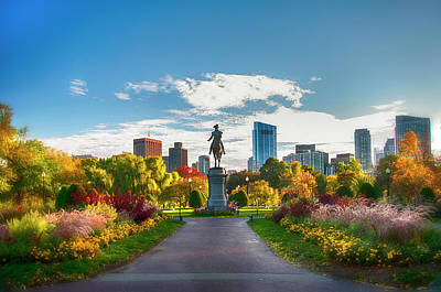 Politicians Royalty-Free and Rights-Managed Images - Autumn Light in the Boston Public Garden by Joann Vitali