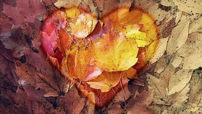 Digital Art - Autumn Love by Jason Fink